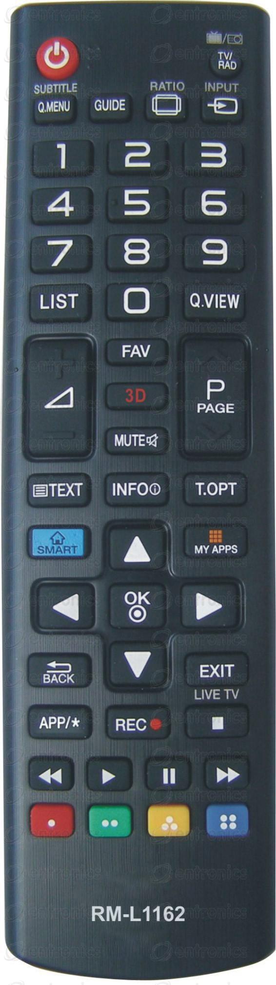 Дистанционно управление LG RM-L1162 3D SMART